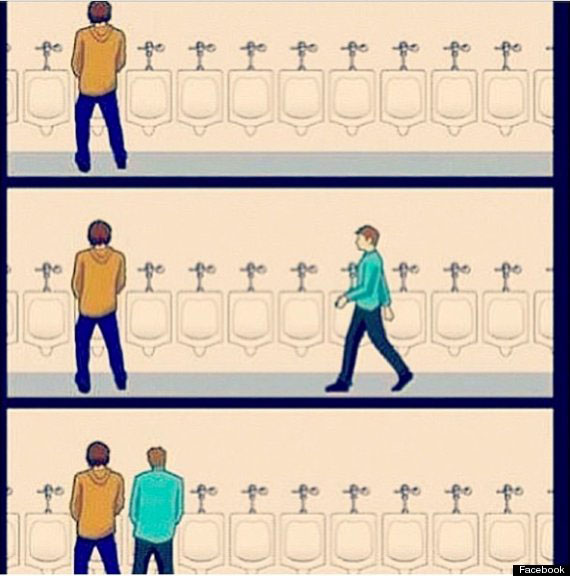 Two Men Standing Too Close at Urinal. The Very Best  and Worst  Bathrooms in New Haven   Shades of Zero