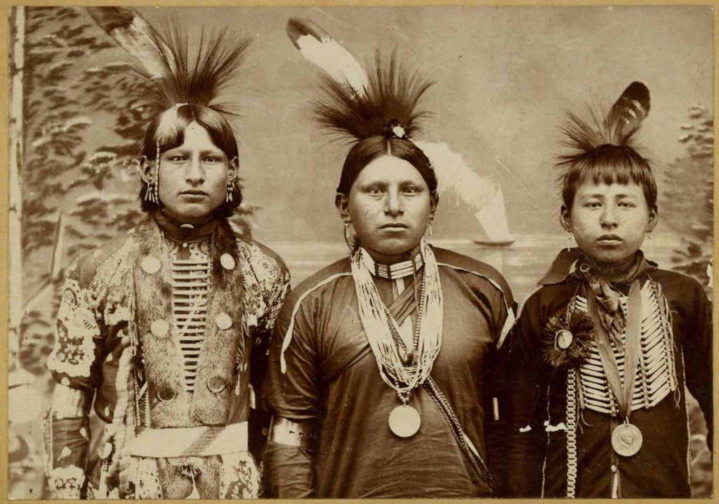 Three young Native Americans