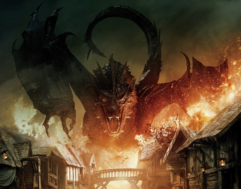 Smaug Destroying Town