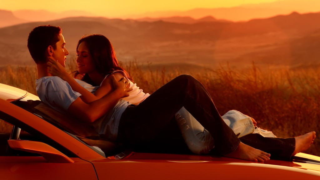 Romantic Couple in Sunset